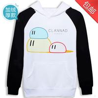Clannad sweatshirt outerwear long-sleeve clothes plus velvet