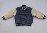 Children's clothing denim baseball uniform hot-selling child baseball uniform children outerwear