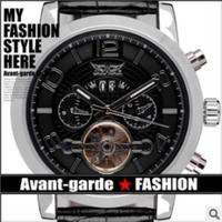Date Week Month Mens Relogio Luxury Brand Leather Strap Tourbillon Winner Jaragar Automatic Mechanical Watch Men