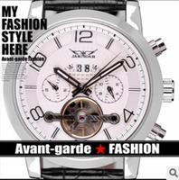 6 Hands Date Week Month Mens Leather Strap Tourbillon Watch Relogio Luxury Brand Winner Jaragar Automatic Mechanical Watch Men