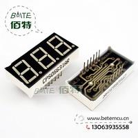 "Free Shipping  CPS05631AR Common Cathode 3Bit Digital Tube 7 segment 0.56"" Red LED Display 10PCS/LOT"