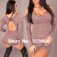 free shipping 2014 Hot explosion models black gray women dress nightclub