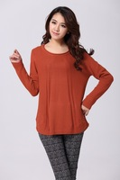 Women Korean version of the new spring and autumn long-sleeved round neck sweater ladies sweater original single supply