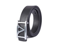free shipping 1PCS Fashion Silver V-Buckle Genuine Leather Belt Waistband at various colour
