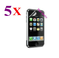 Retail Packing New 5x CLEAR LCD Screen Protector Guard Protective Film Cover Film For Apple iPhone 3G 3GS