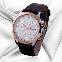 Promotion Curren Luxury Brand Leather Strap Watches Men Analogue Date Men relogio Masculino Quartz Wrist Watch Free Shipping