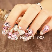 hot sale free shipping 34pcs/lot Nail Art Decorations diamond 17styles nail decorations Beauty Accessory For Women Nails