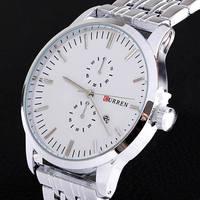 Curren Brand Men Full Stainless Steel Watches Relogio Masculino Date Calendar Men Quartz Sports Wrist Watch Free Shipping