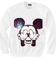 HOT SALE women's mouse sweatshirts cartoon printed hoodies pullovers 2014 New