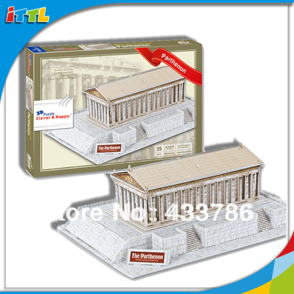 Three-dimensional jigsaw puzzle The Parthenon (Greece) World famous ...
