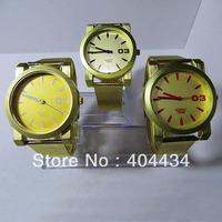 30pcs unisex watches round dial fashion watch Stainless steel Mesh metal bracelet quartz Wristwatch
