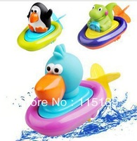 Free shipping! New arrival baby shower animal duck rubber frog and penguin pull rope toys safe toys water toys mother assured