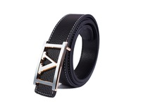 free shipping 1PCS Fashion Gold/Silver V-Buckle Genuine Leather Belt at various colour