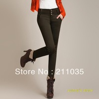 Women autumn winter plus velvet waist plus size leggings pants pencil trousers,R93,DY,G503,8030#,