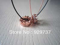 couple necklace-lover necklace-rose gold crown necklace-crown ring necklace-for lover necklace