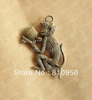 40pcs 25*39MM Antique Bronze Metal/Alloy MONKEY charms Pendant DIY Vintage Jewelry Base settings
