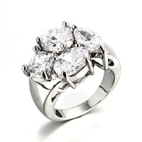 2014 New Fashion Zircon Ring 925 Sterling Silver Wedding rings for women men Jewelry