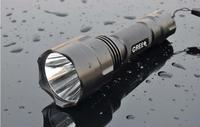 Discount! 10PCs Ultrafire C8 5-Mode 1300 Lumens XM-L T6 LED Flashlight Power By 1*18650 Battery Waterproof Camping Hiking Torch