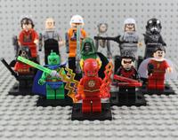 Classical Toy 12pcs/lot Super Hero Martian Manhunter Shazam Robin Vs Star War Action Figures Deadpool Cloning Robot Block