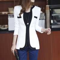 Plus Size Autumn Winter New Women Blazers And Jackets Fashion Slim Ladies Cardigan Coat Business Suits Outwear White Black