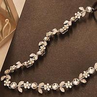 Fashion Women's   Silver Crystal Rhinestone Flower Elastic Hair Band Headband Hair Accessories 06A5