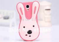 Cute Bunny Phone Case for Samsung i9500 Galaxy S4 Rabbit Silicon Case  - Multicolors 10pcs/Lot