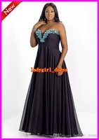 Wholesale - 2014 Free Shipping Sexy Sweetheart A line Pleated Crystal Chiffon Sexy Blush too Prom Dresses 9003W Backless Formal