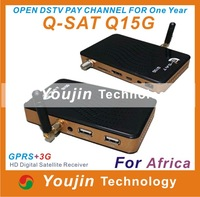 IN STOCK gprs dongle receiver Qsat Q15g decoder Q-sat Q15g dstv free one year qsat q15+free shipping