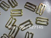 "500Pcs/Lot Golden ""E"" Hook Bra Clips 15mm CPAM free shipping"