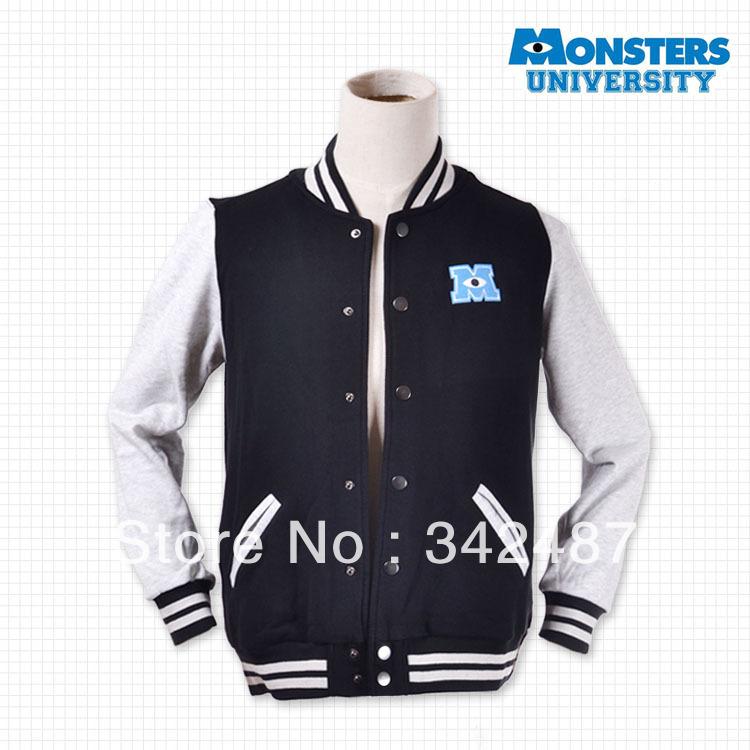 2014 new Monster university coat fleece baseball windbreaker autumn outfit long-sleeved sports leisure coat sweethearts outfit(China (Mainland))