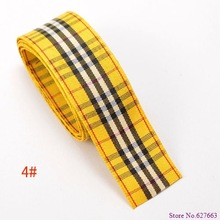 free shipping 1 25mm width styles polyester scottish tartan gingham ribbon bow decorative
