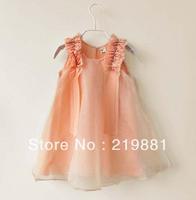 Wholesale !Girls new chiffon vest dress , dress party baby , 6pcs/lot   ZJX07