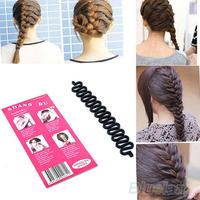 Fashion Hair Braiding Braider Tool Roller With Magic hair Twist Styling Bun Maker 0699