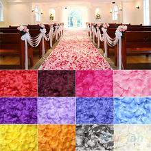 100 piezas de seda de la flor de Rose hojas de los pétalos Decoración de la mesa del partido del acontecimiento de la boda Suministros Multi Color Coronas 063U(China (Mainland))