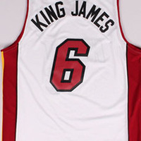 Free Shipping,#6 King James Nickname Rev30 New Material Basketball jersey,Embroidery logos,Size S-2XL,Mix Order