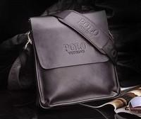 2014 new fashion brand designer faux leather men POLO shoulder bags handbag messenger bag free shipping