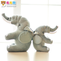 Doll pillow cushion  gray elephant doll plush toy Christmas birthday gift t8748