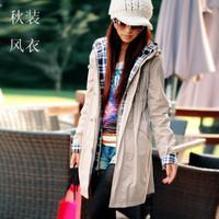 2013 gentlewomen trench outerwear plus size autumn faux two piece set medium-long women's casual