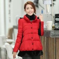 2014 winter cotton-padded jacket sweet all-match thickening outerwear cloak cotton-padded jacket thermal wadded jacket female