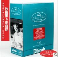 Free shipping Rose hibiscus dilmah herbal tea independent aluminum foil  wholesale