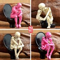 skull is meditation in the stool