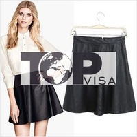 Factory direct new winter 2015 women's European and American fashion wild Slim PU leather skirts short skirts