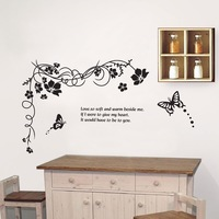 Freeshipping flying butterfly TV setting  wall sticker ,60x90cm removable art DIY cartoon Home decor   PVC wall stickers
