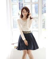 2014 NEW skirt, short skirts female,short saia,falda, jupe++camisole chiffon camisa, blouse,lace roupas femininas,camiseta blusa
