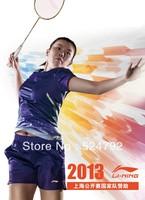 wholesale!free shipping New Badminton CHINA OPEN 2013 LI-NING Jersey women / CHEN LONG Jersey / Badminton shirt / Li Ning