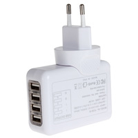 Sale! 2.1A 4 Port USB Charger Universal USB Wall Charger AC Mobile Phone Charger For Home Travel With US UK EU AU Plug Optional