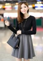 New 2014 fashion women casual winter dress plus size long sleeve thicken velvet dresses for women novelty dress B087