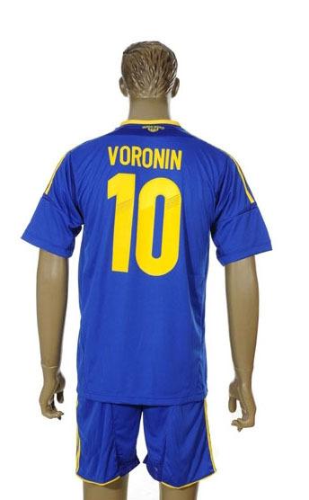 wholesale sports jerseys soccer jersey national team 2014 Ukraine away 10 VORONIN ukraine football(China (Mainland))