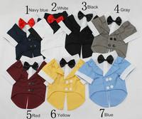 Pet clothes suit formal dress gentlemen's Dog suit bow tie Handsome upscale Free shipping