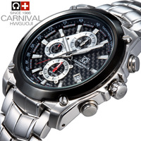Carnival watch male stainless steel large dial waterproof luminous fashion sports mens watch sport 2014 brand luxury